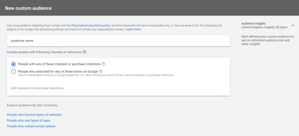 Custom Audience New Interface