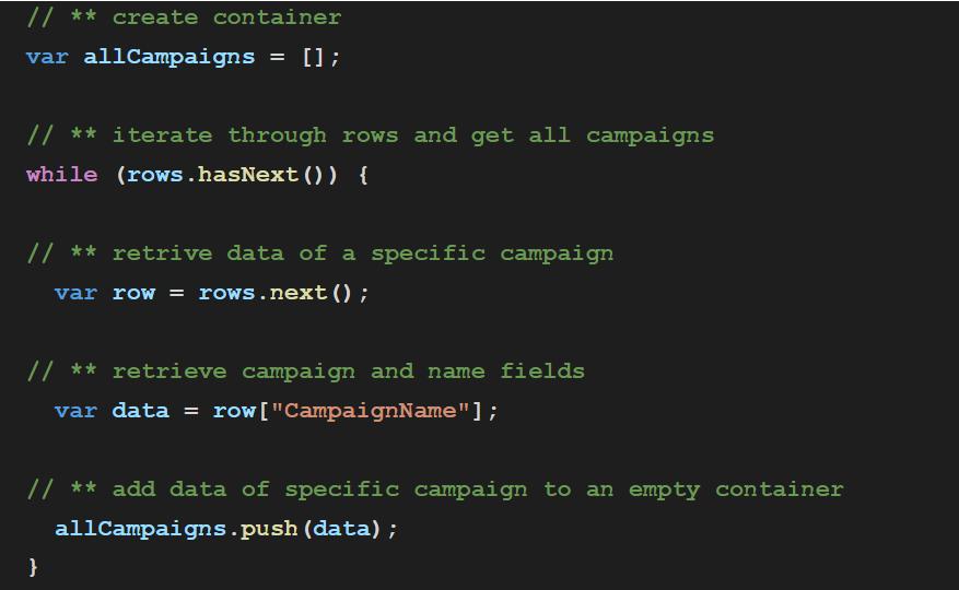 container Adwords API