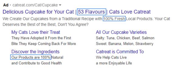 Cat food ad